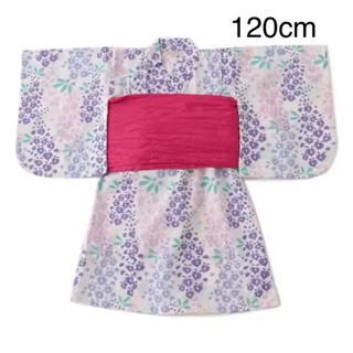 petit main - 新品 プティマイン 藤の花 浴衣 120cm