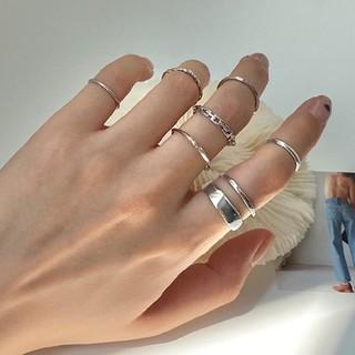 トゥデイフル(TODAYFUL)の7個入り シンプル リング セット ファランジリング 指輪 (リング(指輪))
