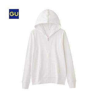 GU - GU❤︎UVカットフルジップパーカ 長袖❤︎ホワイト