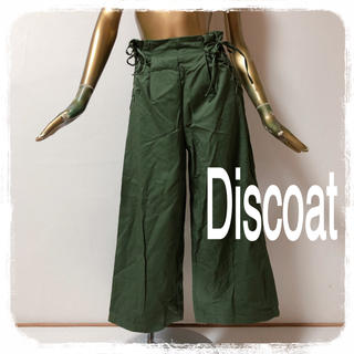 Discoat - Discoat ♥ レースアップ ハイウエスト ワイドパンツ