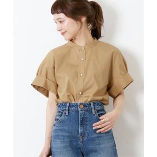 Spick and Span - キャメル Spick & Span パールボタンタックスリーブシャツ