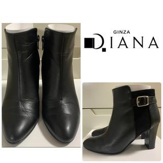DIANA - ダイアナ ブラックレザー ブーツ