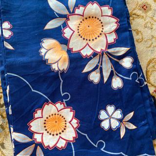 フリフ(ふりふ)の濃青の浴衣フリーサイズ(浴衣)