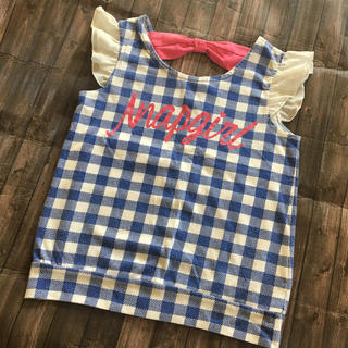 アナップキッズ(ANAP Kids)のANAPGIRL  肩フリル トップス(Tシャツ/カットソー)
