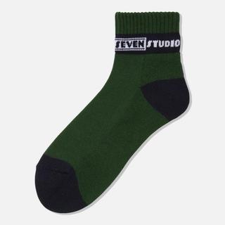 ジーユー(GU)の新品!STUDIO SEVEN GU Socks Green(ソックス)