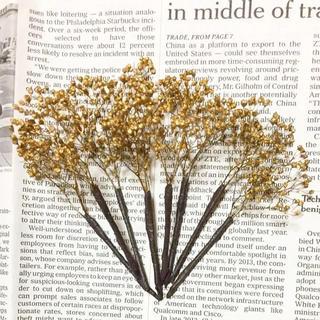 ドライフラワー ヘッド 髪飾り ゴールド かすみ草 成人式 和装 ブライダル(ドライフラワー)