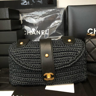 CHANEL - CHANELストロー籠ショルダー盆SALE