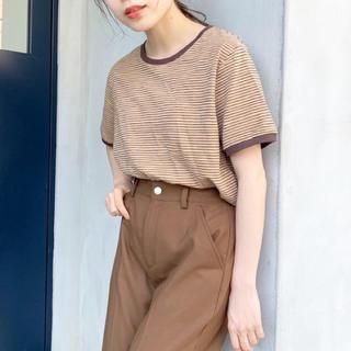 Kastane - KASTANE リンガーボーダー Tシャツ