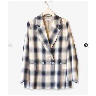 フィーニー(PHEENY)のPHEENY レーヨンオンブレチェックジャケット タグ付き(テーラードジャケット)