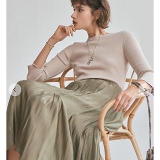 Mila Owen - タックフレアスカートサテンマキシスカート