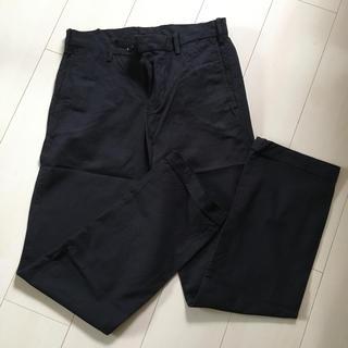 ムジルシリョウヒン(MUJI (無印良品))の無印良品 メンズコットンスラックス 黒 76 × 82(スラックス)