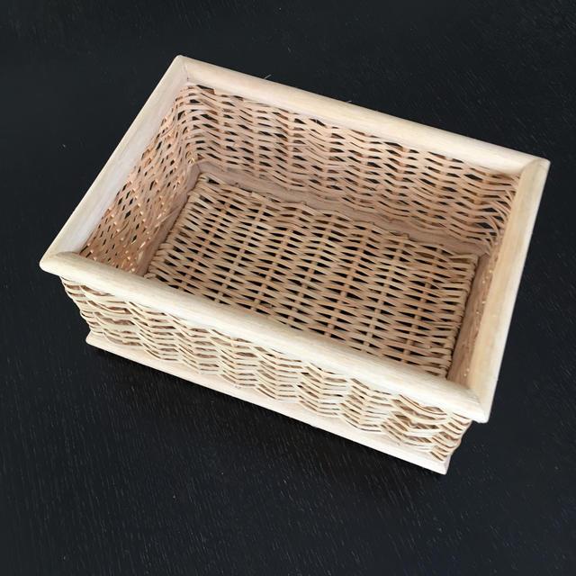 MUJI (無印良品)(ムジルシリョウヒン)の無印良品 重なるブリ材長方形ボックス  インテリア/住まい/日用品のインテリア小物(バスケット/かご)の商品写真