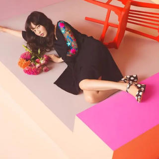 tocco - 【即完売・新品タグ付】tocco  肩リボン袖シースルー刺繍ワンピース