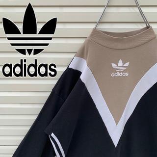 adidas - アディダス スウェット トレフォイルロゴ 90s デカロゴ ゆるダボ 人気 希少