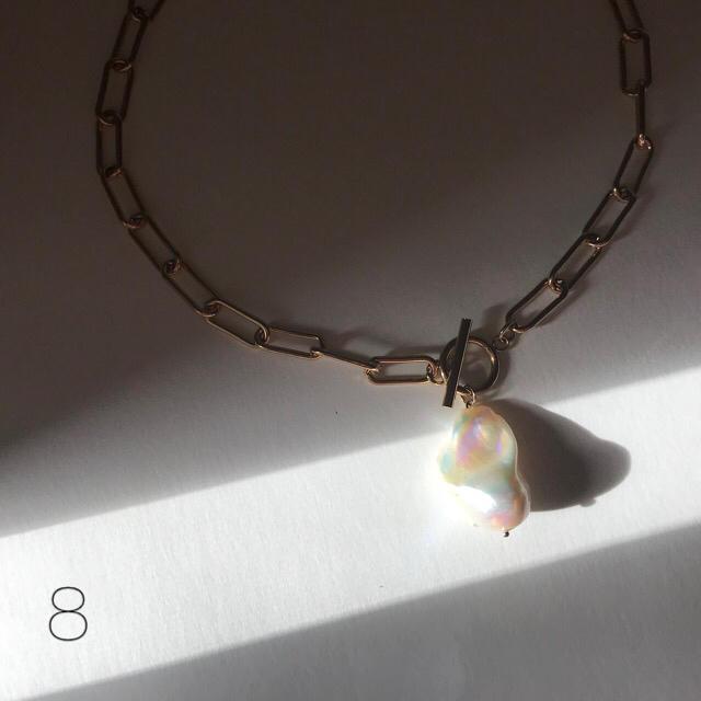 バロックパール チョーカー ハンドメイドのアクセサリー(ネックレス)の商品写真