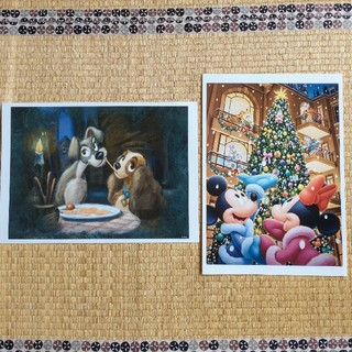 ディズニー(Disney)のディズニー 額絵シリーズ 2枚セット(絵画/タペストリー)