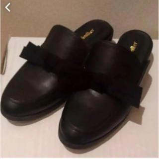 ヘザー(heather)のheather⭐︎リボンスリッパ(ローファー/革靴)