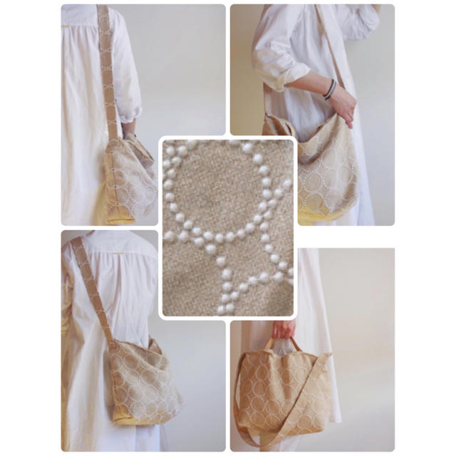 mina perhonen(ミナペルホネン)のミナペルホネンタンバリン ショルダーバック ハンドバック 2way レディースのバッグ(ショルダーバッグ)の商品写真