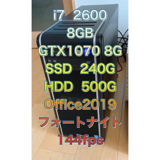 Core i7 2600 ゲーミング PC  GTX1070  Office付き