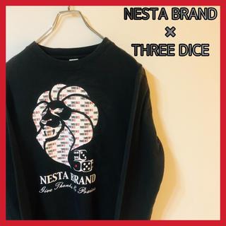 NESTA BRAND - ネスタブランド スリーダイスコラボ ロンT Tシャツ メンズ 黒 ビッグプリント