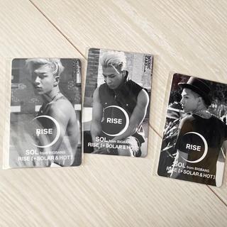 ビッグバン(BIGBANG)のBIGBANG SOL RISE ミュージックカード(期限切れ)3枚セット(ミュージシャン)