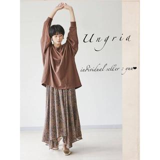 アングリッド(Ungrid)のUngrid シフォンイレヘムスカート シフォンスカート(ロングスカート)