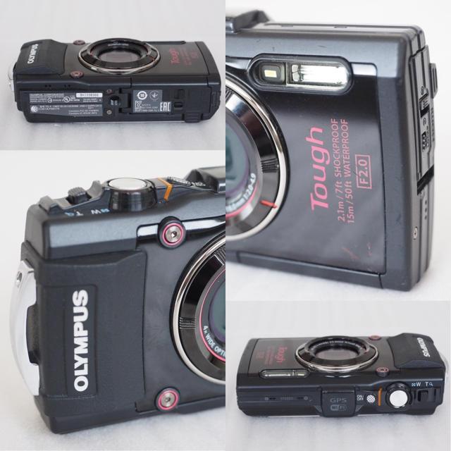 OLYMPUS(オリンパス)の良品 オリンパス STYLUS TG-4 ブラック 防水 アウトドア おまけ4点 スマホ/家電/カメラのカメラ(コンパクトデジタルカメラ)の商品写真