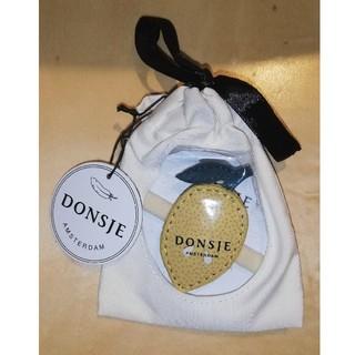 Bonpoint - Donsje レザーヘアゴム レモン
