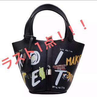 ザラ(ZARA)の【大人気】トムとジェリー ピコタン ペイント革ハンドバッグ(ショルダーバッグ)