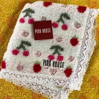 PINK HOUSE - ピンクハウス レースタオルハンカチ チェリー