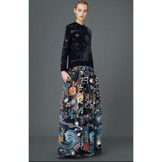 VALENTINO - VALENTINO コスモシリーズ 総刺繍 チュール スカート 素敵 大人気