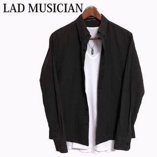 ラッドミュージシャン(LAD MUSICIAN)のLAD MUSICIAN 黒シャツ カジュアルシャツ長袖シャツボタンダウンシャツ(シャツ)