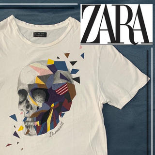 ZARA - 【美品!!】zara man スカル s/s t-shirts