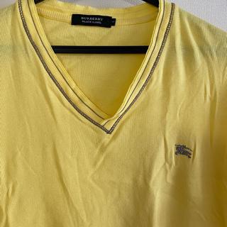 バーバリーブラックレーベル(BURBERRY BLACK LABEL)のバーバリーブラックレーベル Tシャツ 半袖 イエロー(Tシャツ/カットソー(半袖/袖なし))