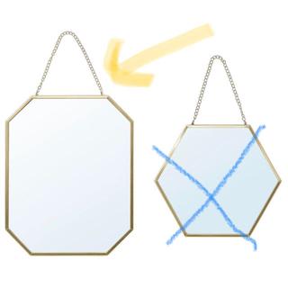 イケア(IKEA)のIKEA ラスビーン 鏡 卓上 壁掛け ゴールド(卓上ミラー)