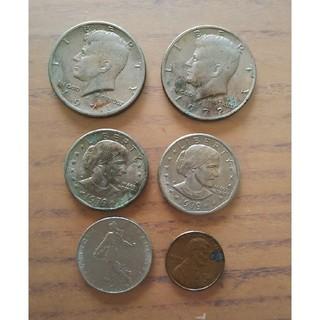 アメリカ0.5ドルケネディ 1ドル フランス硬貨(貨幣)