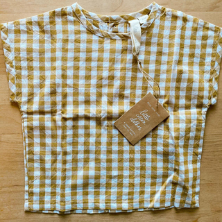 Caramel baby&child  - 新品 little  cotton clothes ギンガムチェック トップス
