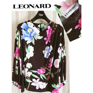 LEONARD - 格安セール☆未使用 LEONARD レオナール 新作 着映え エレ女 トップス