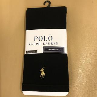 ポロラルフローレン(POLO RALPH LAUREN)の新品 レディース  ポロラルフローレン 10分丈黒綿混レギンス M〜L寸 日本製(レギンス/スパッツ)