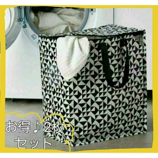 IKEA - お得♥️イケア新商品☆クナラ収納2枚セット♪IKEA クナラ エコバッグ収納 袋