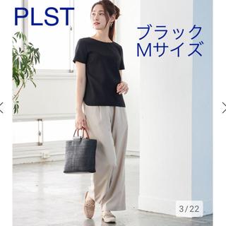 PLST - 新品 PLST ポリエステルオックスTブラウス Mサイズ  ブラック