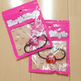 EARTHMAGIC - 66番   ハートヘアゴム、pink、赤、新品set