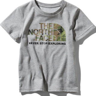 THE NORTH FACE - 【新品未使用】ノースフェイス Tシャツ カモロゴティー グレー 110