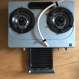 リンナイ(Rinnai)のリンナイ ガスコ付き 左強火 都市ガス Siセンサー付き(調理機器)
