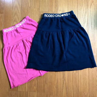 RODEO CROWNS - RODEOCROWNS  ☆ キッズ 薄手スウェット スカート 2色セット
