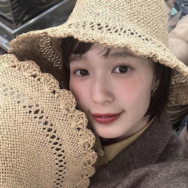 flower(フラワー)のusum しばさきちゃん買い付け 麦わら帽子 レディースの帽子(麦わら帽子/ストローハット)の商品写真