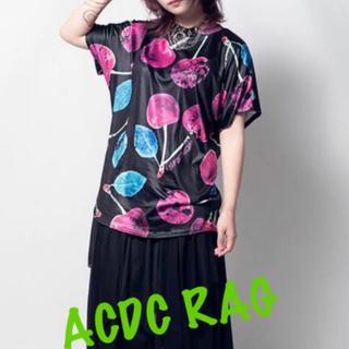 エーシーディーシーラグ(ACDC RAG)のACDC RAG チェリーTシャツ  原宿系 パンク V系 モード系 チェリー(Tシャツ(半袖/袖なし))