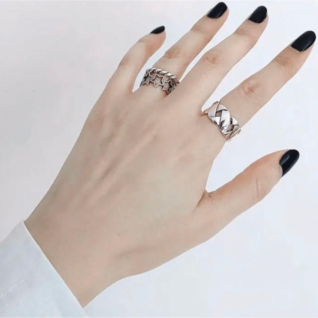 TODAYFUL(トゥデイフル)のボリュームチェーンリング 指輪 シルバーリング レディースのアクセサリー(リング(指輪))の商品写真