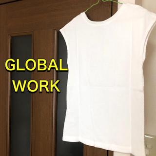 グローバルワーク(GLOBAL WORK)のグローバルワーク レディース トップス 春夏 ホワイト(カットソー(半袖/袖なし))