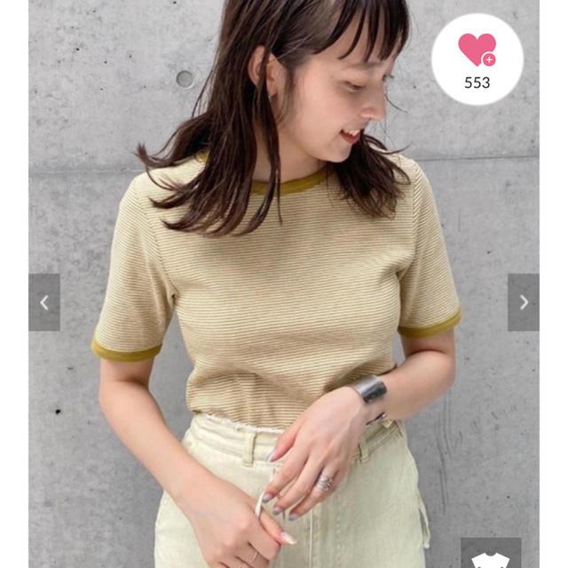 Kastane(カスタネ)のテレコボーダーパイピングTシャツ レディースのトップス(Tシャツ(半袖/袖なし))の商品写真